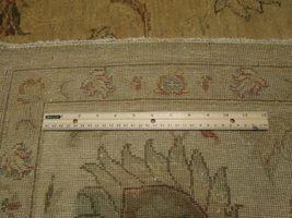 Honey Gold Wool Carpet 9' x 12' New Original Ziglar Oushak Hand-Knotted Rug image 8
