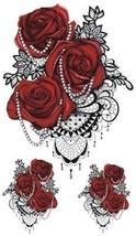 WYUEN 5 Sheets Flower Tattoo Waterproof Temporary Tattoo Sticker Women Fake Art - $12.66