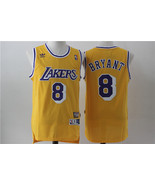 Men's Los Angeles Lakers #8 Kobe Bryant Jersey Yellow Stitched Jerseys.jpg - $26.66