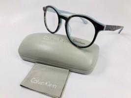 New Calvin Klein CK5932 230 Tortoise & Azure Eyeglasses 51mm with Case & Cloth - $59.35