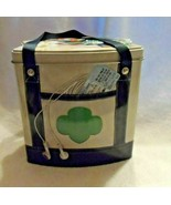 Girl Scouts Collectible Going Places Tin Purse Tote Bag Design Ribbon Ha... - $9.50