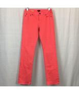 J Crew Matchstick Jeans Straight Leg Womens Stretch Orange Slim Size 27x32 - $27.45