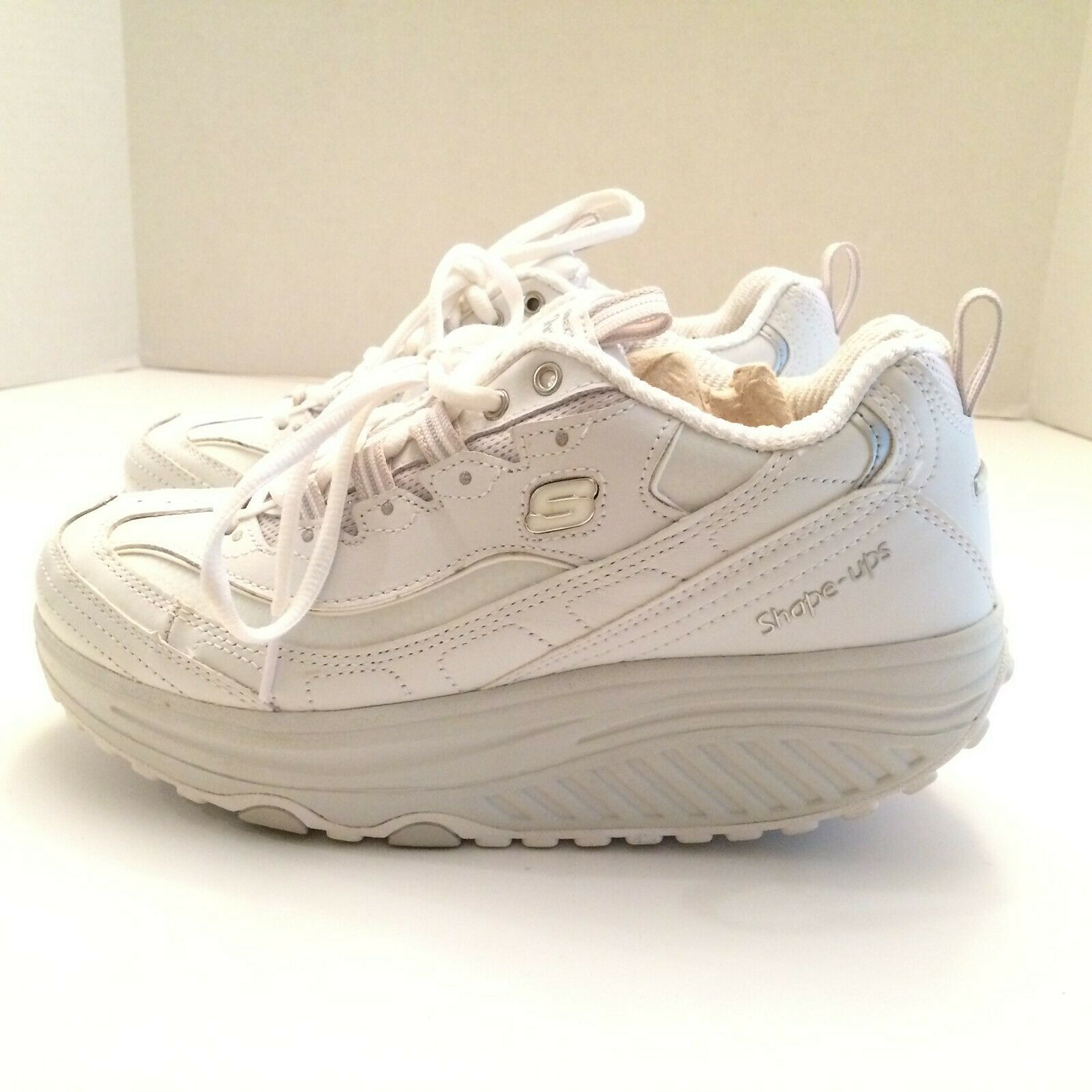 Skechers Shape Ups Womens Size 8 White Silver # 11800/WSL Metabolize Sneakers