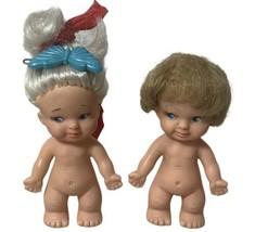 1965 Uneeda Pee Wee Boy And Girl Dolls Dollhouse - $13.99