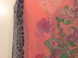 Paisley, Lines, Leopard Print Summer Sheer Fabric Multicolor Scarf, 6 colors image 7