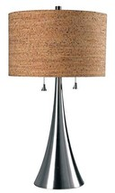 Kenroy Home 32092BS Bulletin Table Lamps, Medium, Brushed Steel - $147.65
