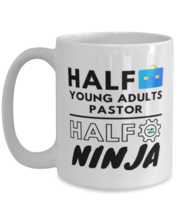 Young Adults Pastor Coffee Mug - 15 oz Funny Tea Cup For Office Friends  - $14.95
