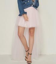White Hilo Over-skirt / Wedding Bridal Wear Tulle Skirt / White Open Tulle Skirt image 11