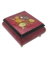 "Italian Music Box, 5"", Floral Butterfly Inlay, Bolero - $159.95"