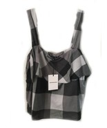Who What Wear Black Gingham Cotton Tank Top NWT XXL  - $19.27