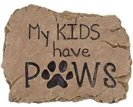 Carson Home Accents 13028 Kids Paws Garden Stone - $21.24