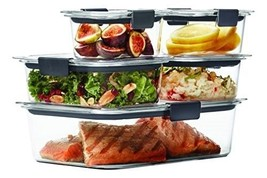 Rubbermaid Brilliance Food Storage Container Storage, Locking Lid Clear ... - €29,67 EUR