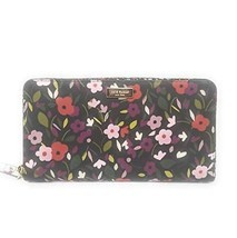Kate Spade New York Neda Laurel Way Wallet (Boho Floral Black Multi) - £71.20 GBP