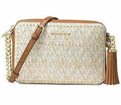 Michael Kors Ginny Medium Studded Camera Bag - Vanilla - $198.00