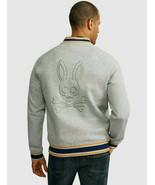 Psycho Bunny Calcott Zip Up Varsity Sweatshirt  Jacket Heather Gray     ... - $130.68