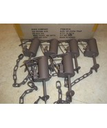 6 Powder Coated Duke DP Dog Proof Coon Foothold Traps Trapping Raccoon 0510 - $64.38