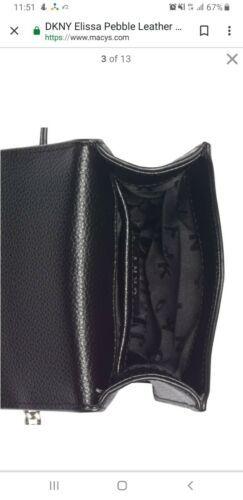 DKNY Elissa pebble leather charm  chain strap crossbody bag