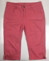 Lee Riders Womens  Sz 16 Medium Pink Capris Cropped Jeans EUC - $7.86