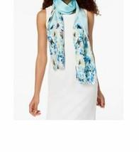 Calvin Klein Garden Floral 100%Silk Mesh Scarf - $29.39