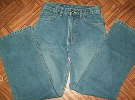 Falls Creek Boys Jeans Sz 14 Denim Blue Adj. Waist Straight Leg School C... - $13.74