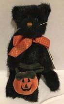 BOYDS 2001 Halloween Cat PEPPER B SCAREDYCAT Black Plush #919700-02 NWT ... - $19.99