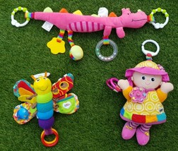 Lamaze and other Rattles Pram Toys for Toddlers Babies Infants. Bundle of 3 item - $17.60
