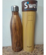 Swell Vacuum Insulated Stainless Steel Water Bottle, 25 oz  teakwood - $27.69