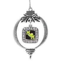 Inspired Silver Tennis Mom Classic Holiday Christmas Tree Ornament With Crystal  - $14.69
