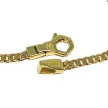 Armband Gelbgold 18K 750, Curb Chain Damen Wohnung, Mini Platte, Länge 20.5 CM image 2