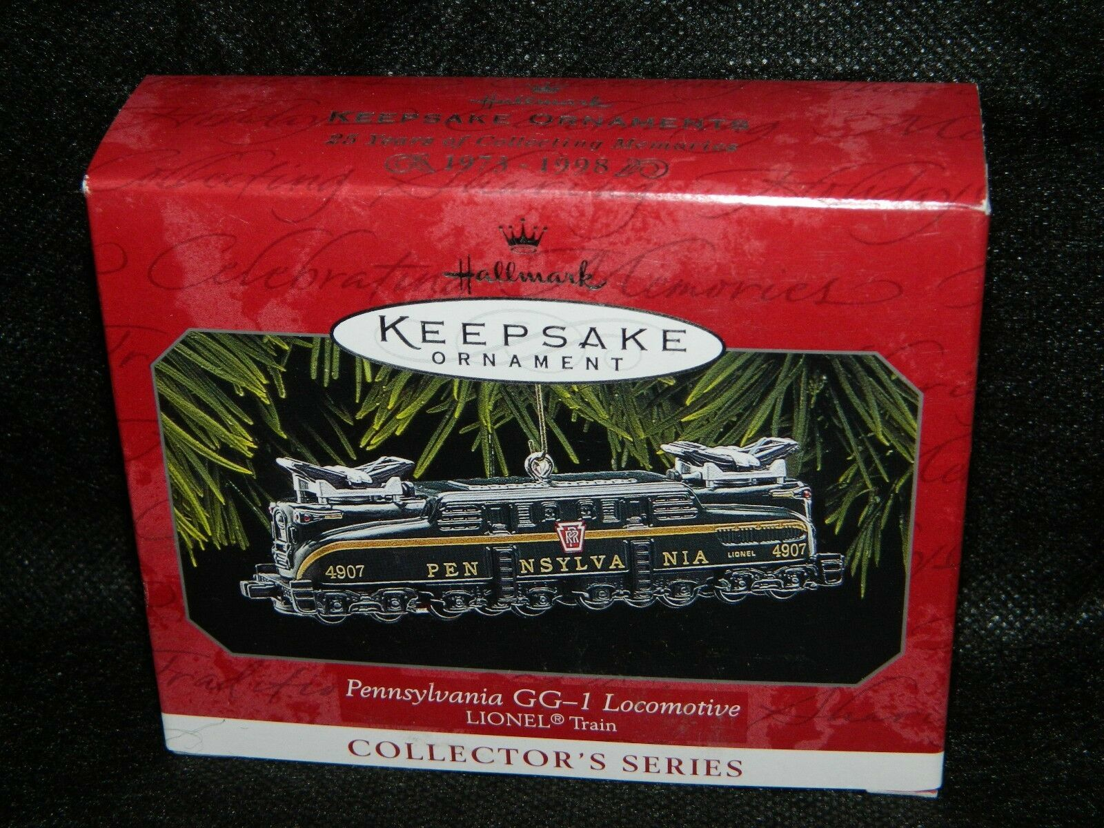 Primary image for 1998 Hallmark Keepsake Pennsylvania GG-1 Locomotive Collector Xmas Ornament