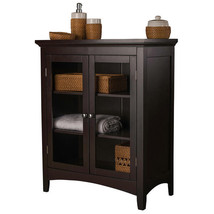 Bathroom Floor Cabinet With Doors Wood Furnitur... - $157.40