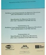 Building Code Requirements for Masonry Structures (ACI 530-02)|Specifica... - $29.70