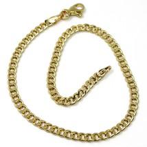 Bracelet or Jaune 18K 750,Chaîne Groumette,Épaisseur 3mm,Longueur 19cm image 1