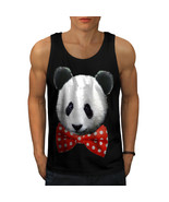 Panda Cute Bowtie Funny Tee Wild Life Men Tank Top - $12.99