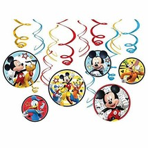amscan 671789 Disney Mickey on The Go Value Pack Foil Swirl Decorations, Party F - $9.85