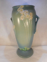 Vase ROSEVILLE Large 772-14 Art Pottery Blue PRIMROSE Flower Circa 1932-... - $672.21