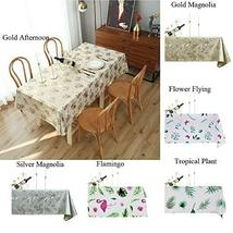 Multi Size Table Cloth PVC Rectangle Table Cover for Dinner Party Weddin... - $29.70