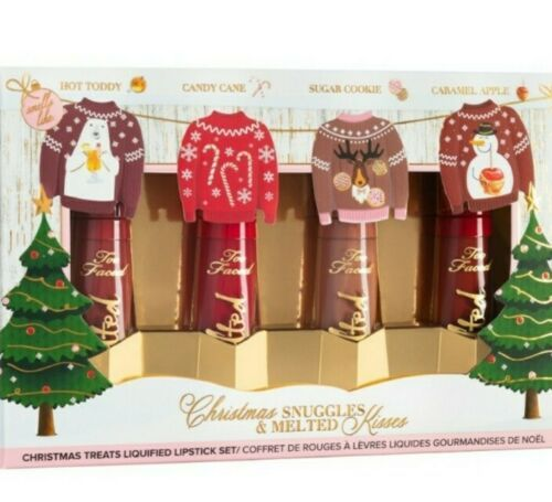 Too Faced Christmas Snuggles & Melted Kisses Liquid Lipstick Set Holiday 2020