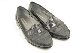 Dinofrascati Mens 13M Black Genuine Snake Leather Upper Sole Dress Casua... - $29.99