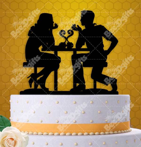 Cafe Love Couple Cake Topper and 50 similar items