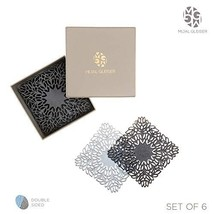 Mijal Gleiser Double Sided Coasters Laser Cut Heat Resistant Non Slip St... - $34.82
