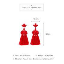 Tassel Earrings for Women Bohemian Ear Ethnic Statement Earrings Party J... - $11.45