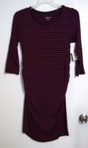 Liz Lange Maternity Woman's Berry & Navy Striped Maternity Dress - Size ... - $7.09