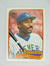 Jeffrey Leonard Milwaukee Brewers 1989 Topps Baseball Card Number 160 - $0.98