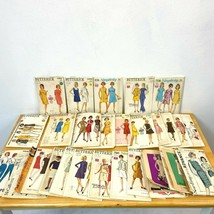 Vintage Sewing Pattern Lot 27 Mod Dresses 1960s all Bust 32 32.5 Complet... - $59.95