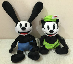 "Disney Parks Oswald the Lucky Rabbit and Ortensia Plush Doll 9"" Set New - $53.88"