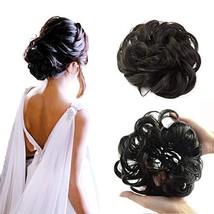 Abujia Messy Bun Hair Piece Hair Bun Extension Wavy Curly Messy Donut Hair Updo