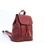 Small brown backpack, Backpack boho purse, Womens backpack, Laptop backpack - $65.99
