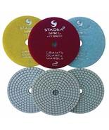 "Stadea PPH101S 4"" Diamond Polishing Pads Three 3-Step Set Wet Dry Pads F... - $42.62"