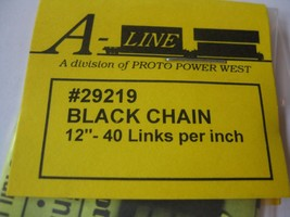 """A-Line #29219 Black Chain 12"""" - 40 Links per inch image 2"""